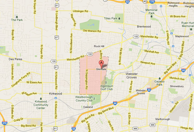 Appliance Repair In Glendale Mo 63122 Map Service Areas
