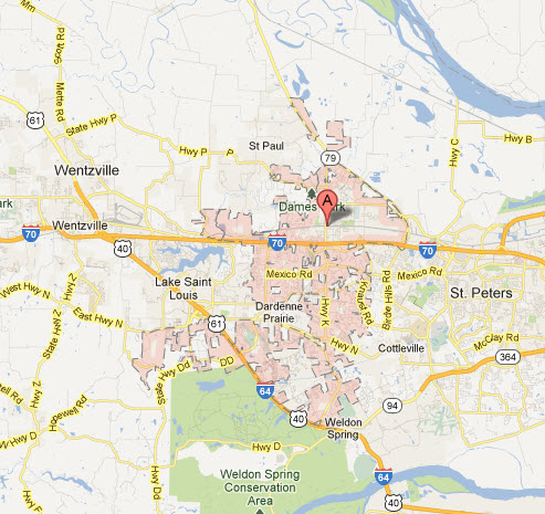 Appliance Repairs In O'Fallon Mo Map Service coverage areas