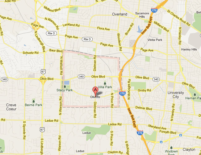 Olivette Mo 63132 appliance repair service areas.